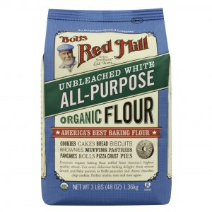 Bob's Red Mill Organic Unbleached White Flour - 3lbs. -0