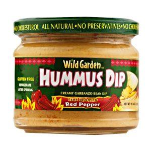 Wild Garden Hummus Dip - Fire Roasted Red Pepper- 10.74 oz.-0