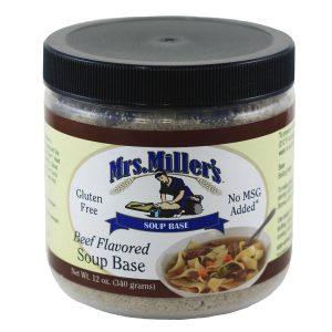 Mrs. Miller's Beef Soup Base - 12 oz. -0