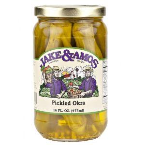 Jake & Amos Pickled Okra - 16 oz. -0