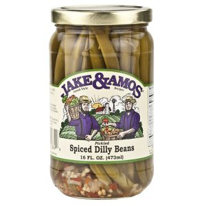 Jake & Amos Spiced Dilly Beans - 16 oz. -0