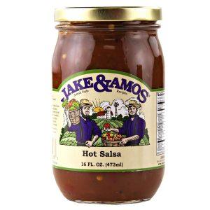 Jake & Amos Hot Salsa - 16 oz. -0