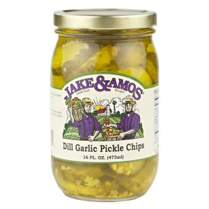 Jake & Amos Dill Garlic Pickle Chips - 16 oz. -0