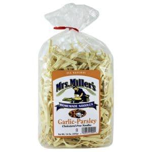 Mrs. Miller's Old Fashioned Noodles- Garlic Parsley 14 oz. -0
