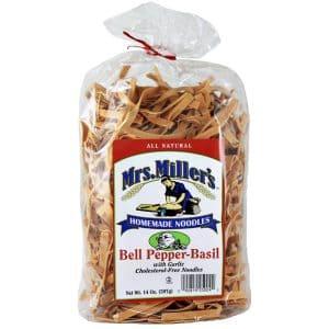Mrs. Miller's Old Fashioned Noodles- Bell Pepper Basil 14 oz. -0