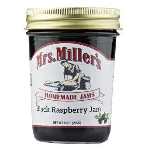 Mrs. Miller's Black Raspberry Jam - 8 oz. -0