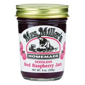 Mrs. Miller's Seedless Red Raspberry Jam - 8 oz. -0