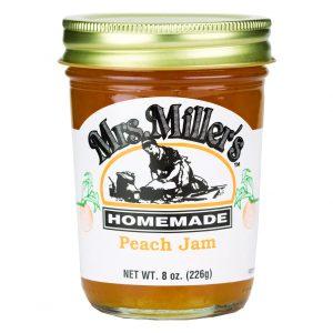 Mrs. Miller's Peach Jam - 8 oz. -0