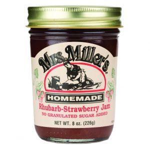 Mrs. Miller's Sugar Free Rhubarb-Strawberry Jam - 8 oz. -0