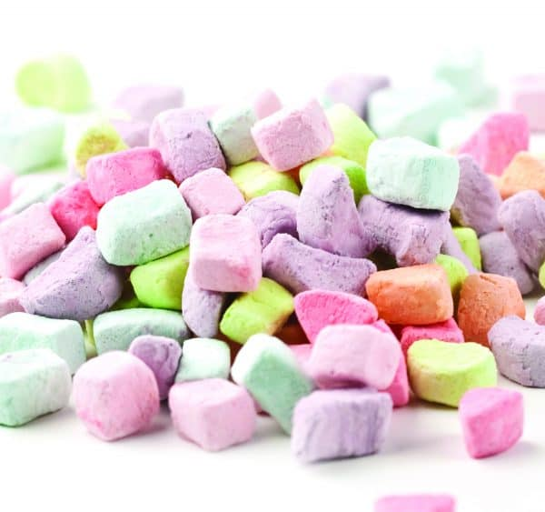 Multicolored Dehydrated Marshmallow Shapes -0