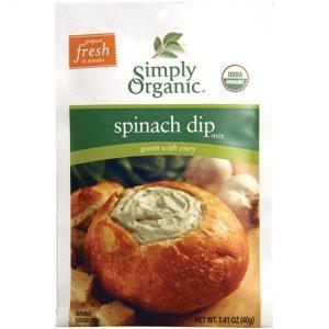 Simply Organic Spinach Dip - 1.41 oz. -0