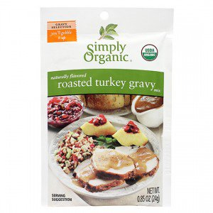 Simply Organic Turkey Gravy Mix - .85 oz. -0